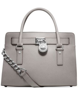 6431c654d84e MICHAEL Michael Kors Hamilton Saffiano Leather East West Satchel |  macys.com > I love the gray color