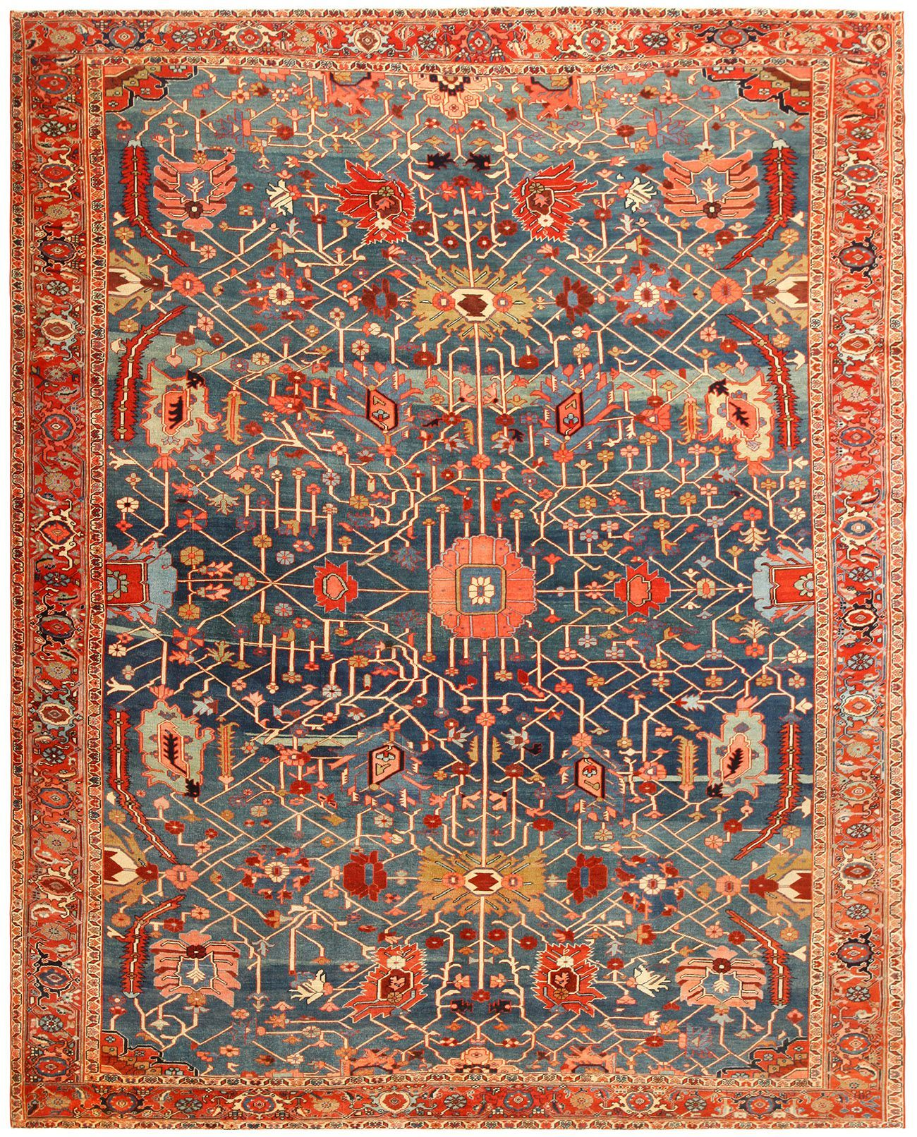 View this beautiful persian serapi rug 49080 from nazmiyal for Tapetes orientales