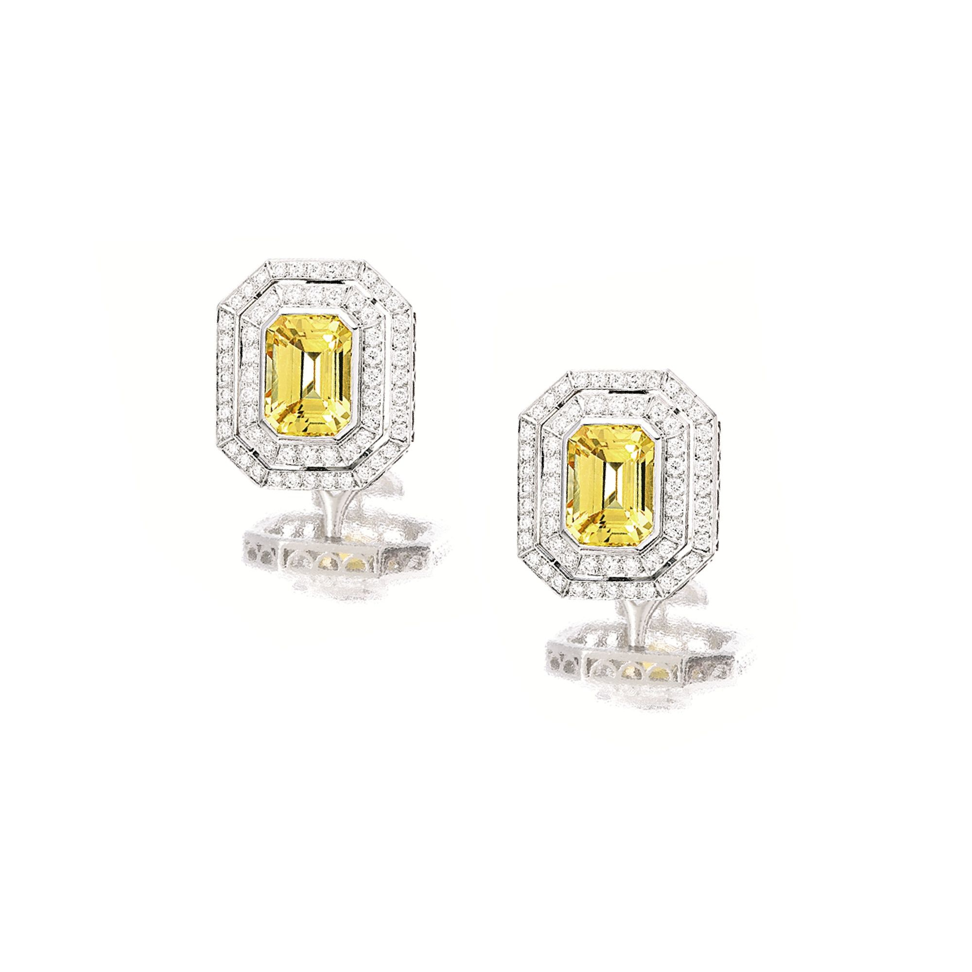schlumberger tiffany diamond jean earrings pin gold yellow co