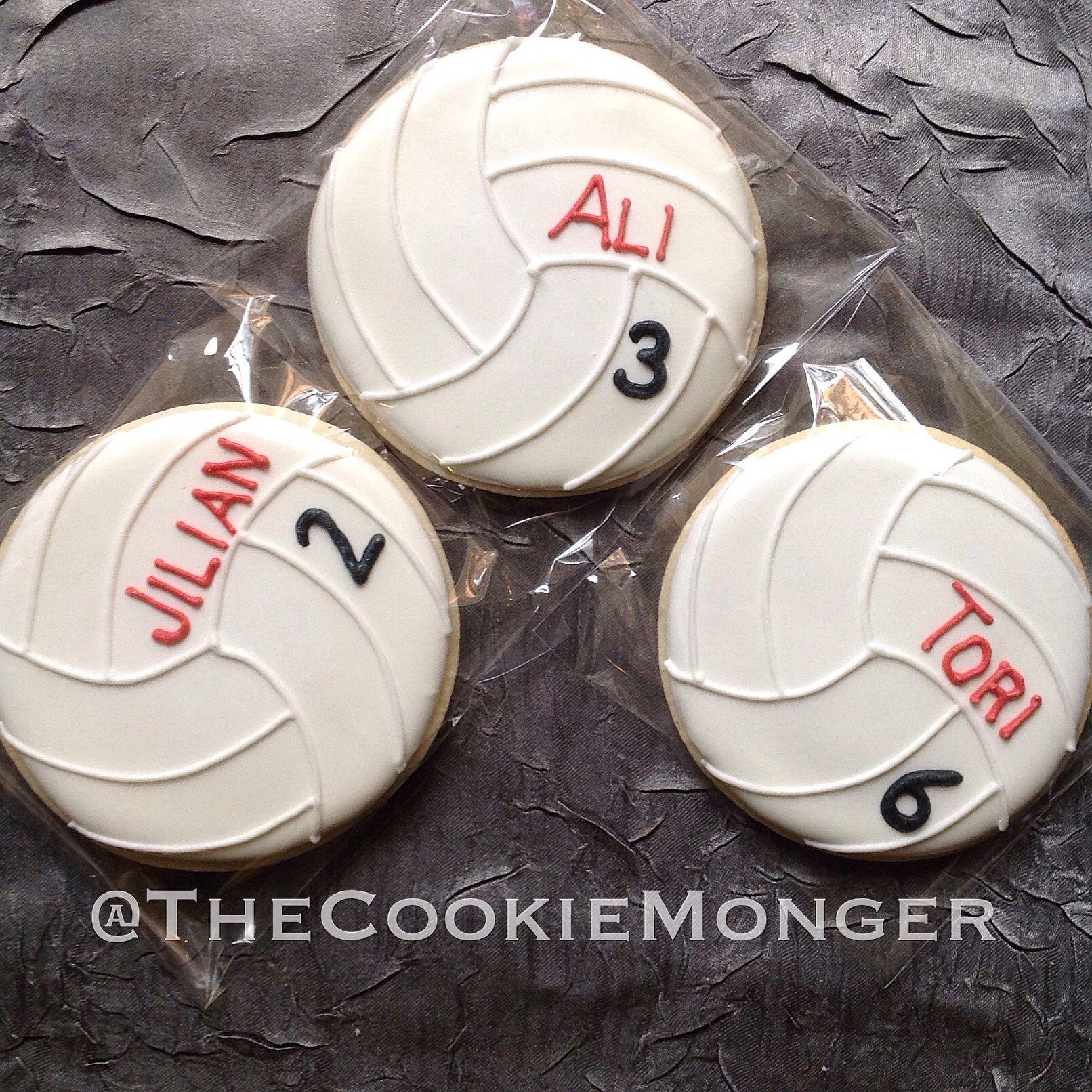 Volleyball Cookies @TheCookieMonger Orders: email thecookiemonger ...