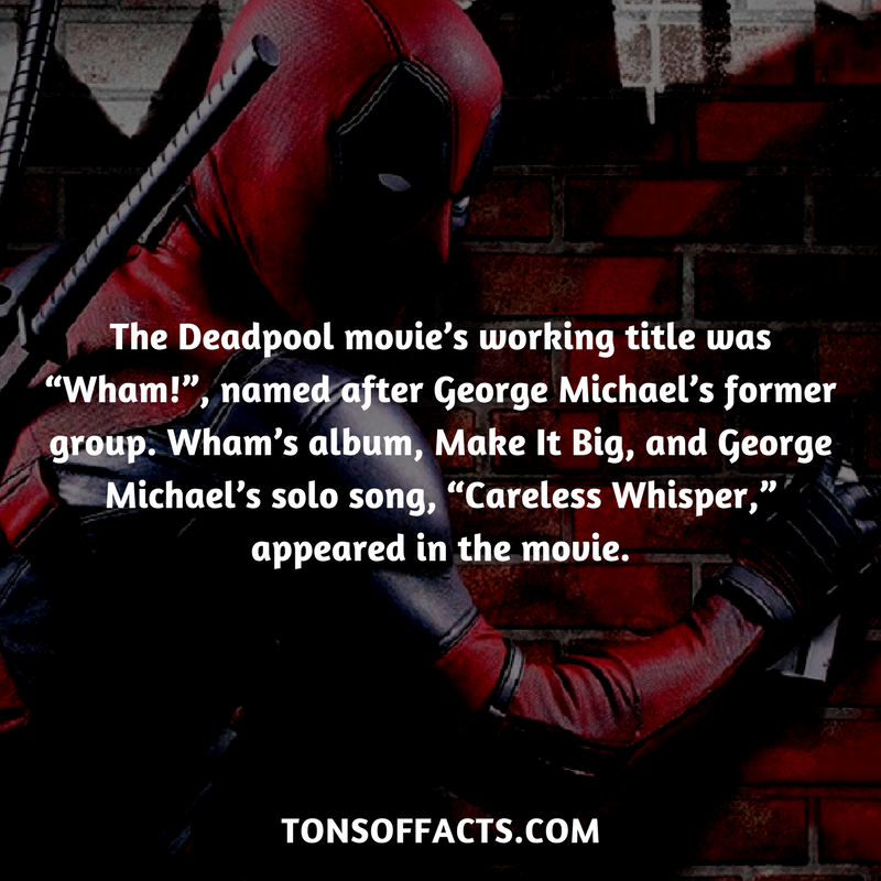 """The Deadpool movie's working title was """"Wham!"""", named ..."""