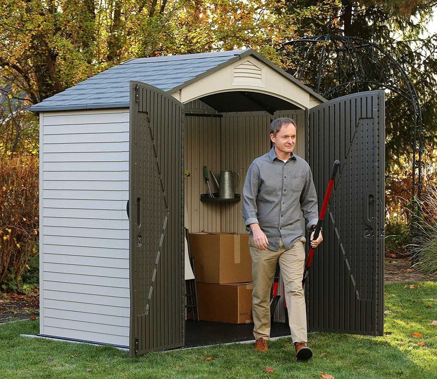 Lifetime 7 X 4 5 Ft Plastic Shed Plastic Sheds Shed Lifetime Storage Sheds