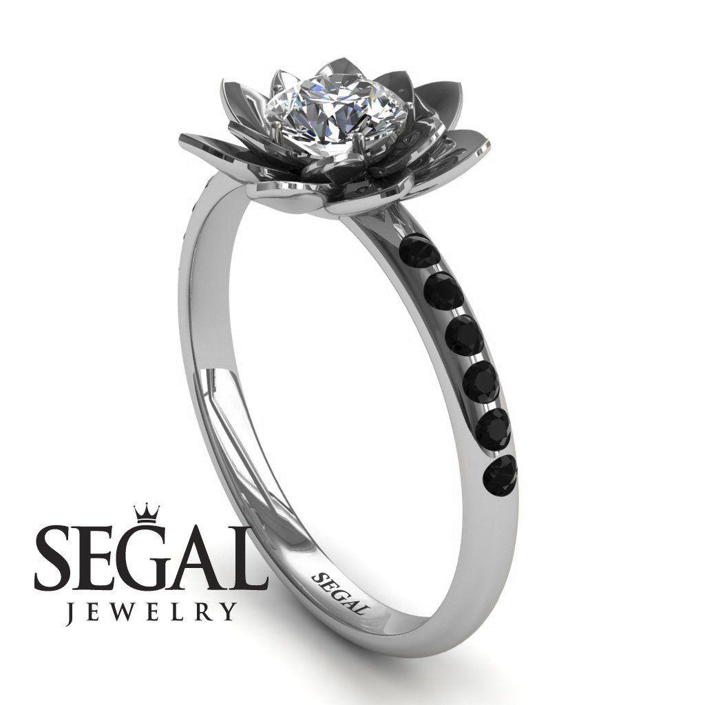 Lotus flower sapphire ring lotus no 12 engagement rings lotus flower sapphire ring lotus no 12 flower diamond ringsrose izmirmasajfo Choice Image