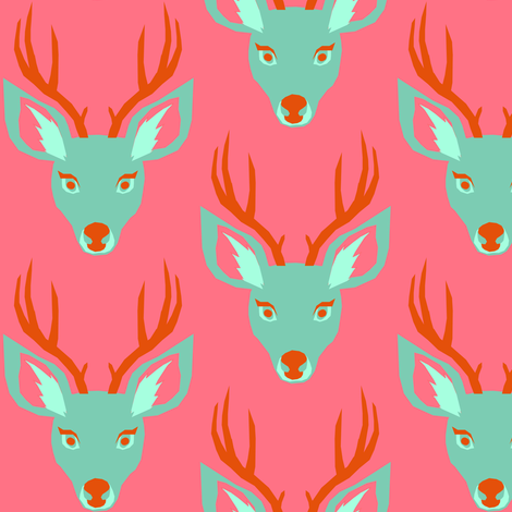 Deer fabric by tinawilson on Spoonflower - custom fabric