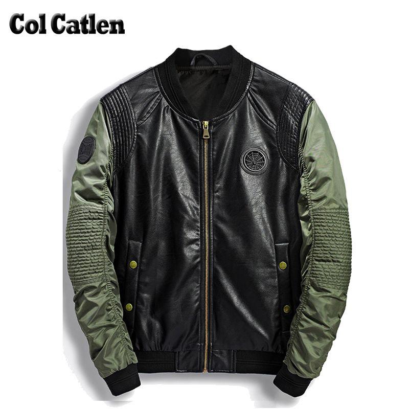aliexpress chaqueta cuero verde de hombres