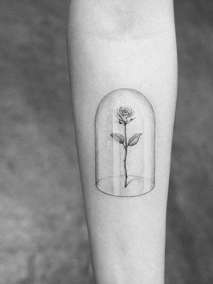Sooo Schön Die Rose Aus Die Schöne Und Das Biest Als Tattoo