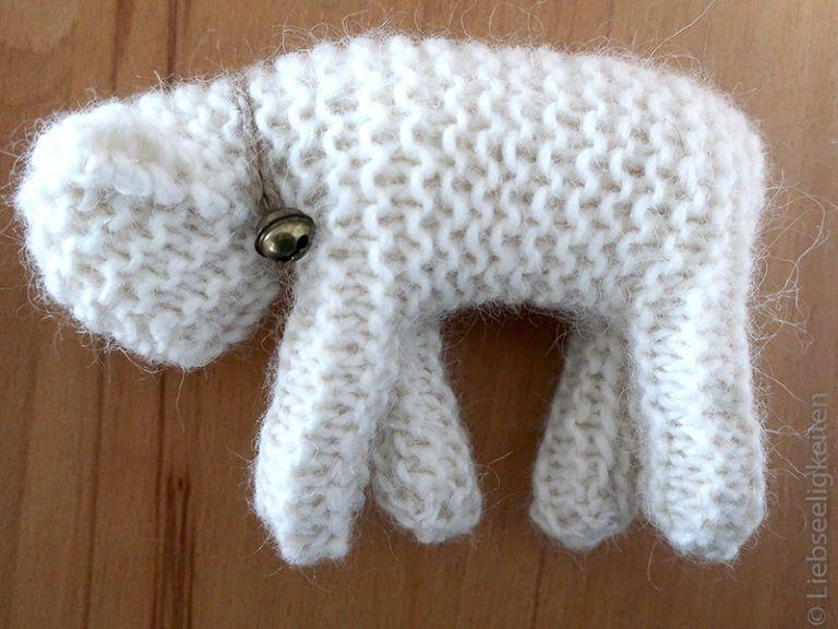 Photo of Waldorf sheep knitted