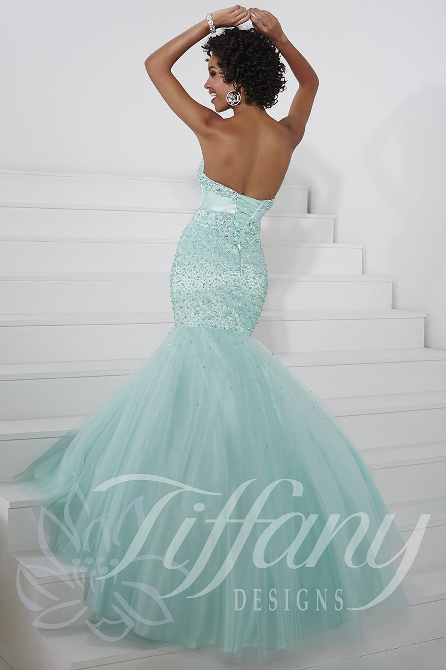 Tiffany Designs Style 16086: This gorgeous gown has a strapless ...
