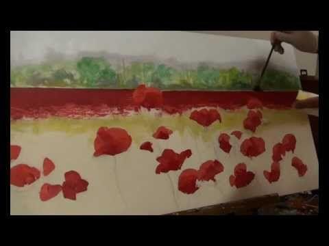 DIPINGERE I PAPAVERI CON LE DITA di Mario Stefanutti - YouTube