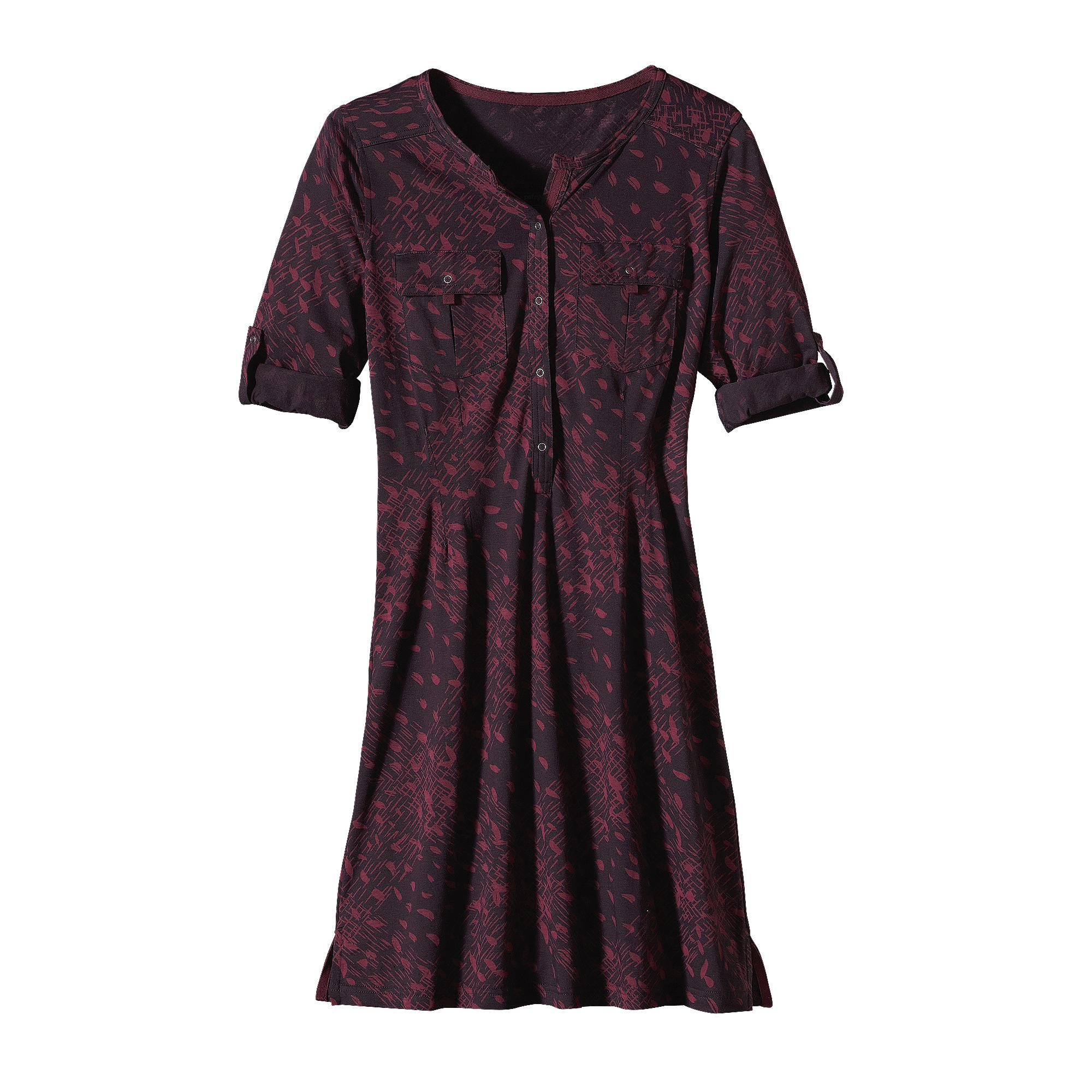 8827d556f Named after a secluded, lovely beach, the Patagonia Women's Kamala Henley  Dress is made of an organic cotton and Tencel® lyocell blend. Check it out.