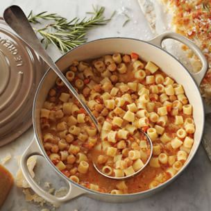 Pasta  and ceci (chickpeas) soup