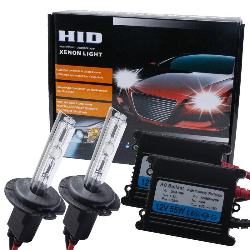 12v55w Auto Xenon Headlight H7 Electronic Ballast Car Hid Xenon Lamp Kit H1 H3 H8h9h11 9005hi3 9006hb4 880 881 H Xenon Headlights Hid Xenon Car Headlight Bulbs