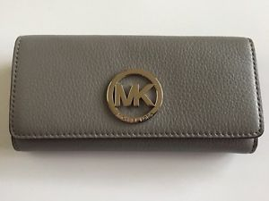 441d1384e2a1 Michael Kors Fulton Carryall Wallet Steel Grey Leather 32F2SFTE3L ...