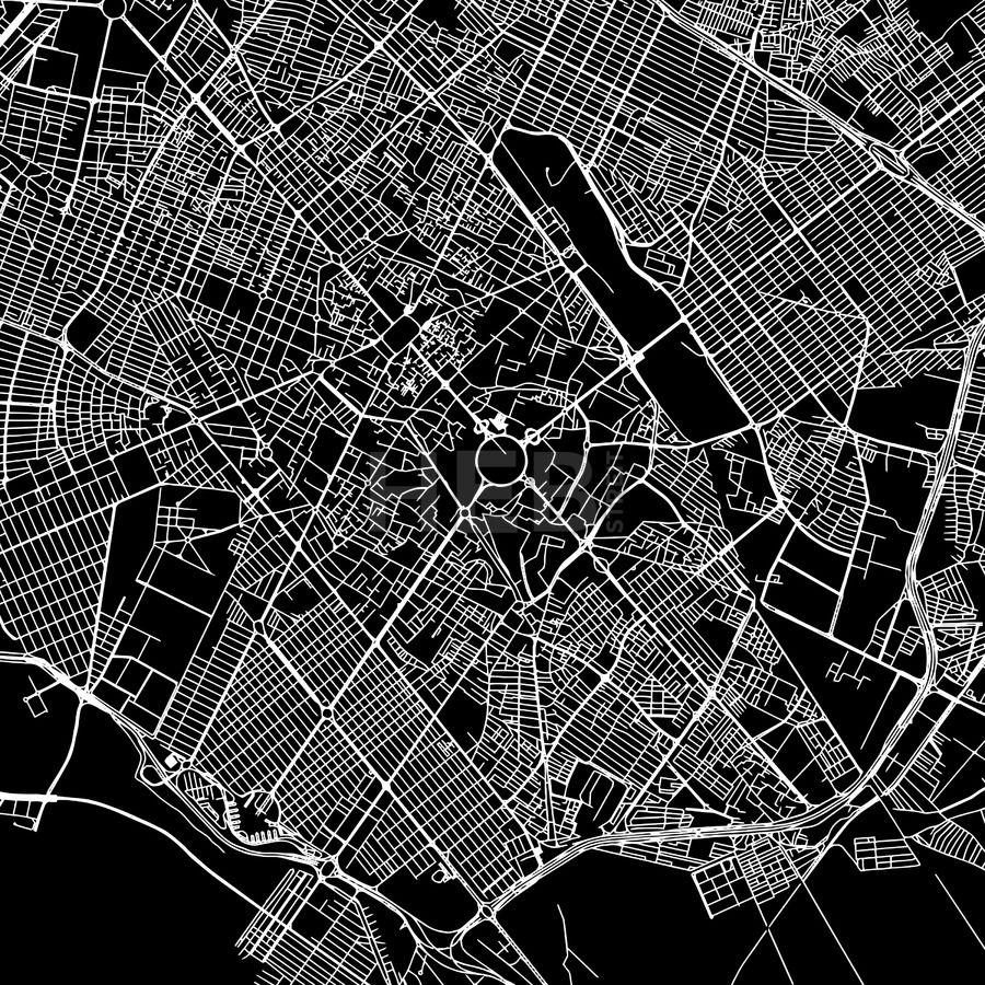 Mashhad iran downtown map dark mashhad iran downtown vector map art print pattern white streets railways gumiabroncs Gallery