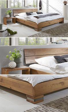 Massivholzbett Und Kopfteil In Rustikaler Eiche Curada Bett Eiche Bett Massivholz Massivholzbett