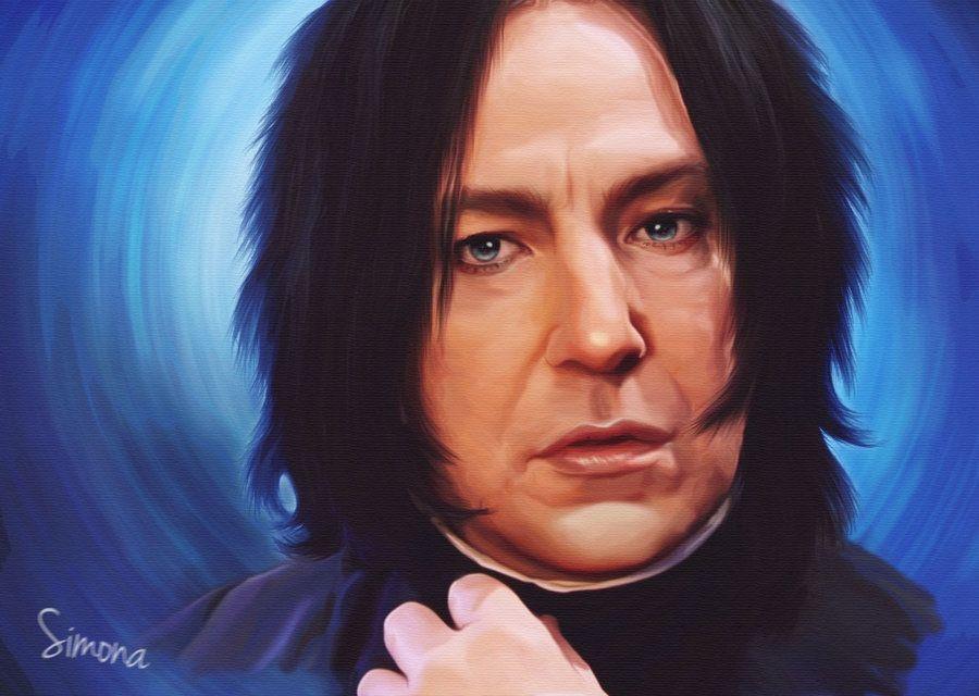Alan Rickman Severus Snape Oil Painting By Vampcupcakeart