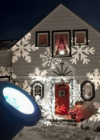 Schones Schneeflocken Projektor Led Projektionslampe Warmweiss Weihnachtsmotive Weihnachtsbeleuchtung Weihnachtsbeleuchtung Weihnachtslichter Weihnachtsgarten