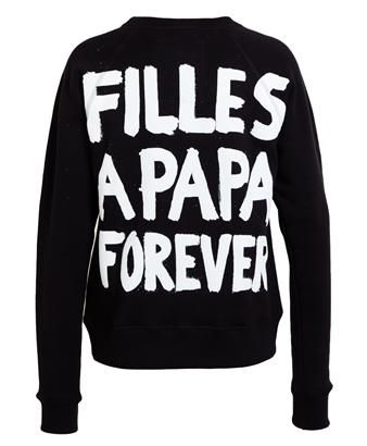 FILLES A PAPA - Forever Printed Cotton Sweatshirt