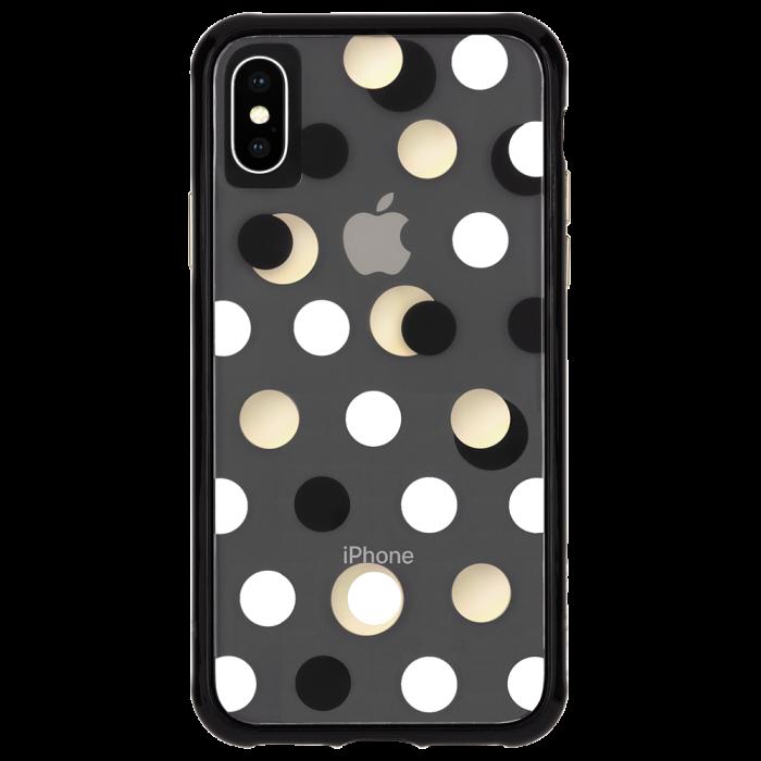 Iphone Xs X Black Metallic Dot Wallpaper Back Iphone Iphone Cases Case