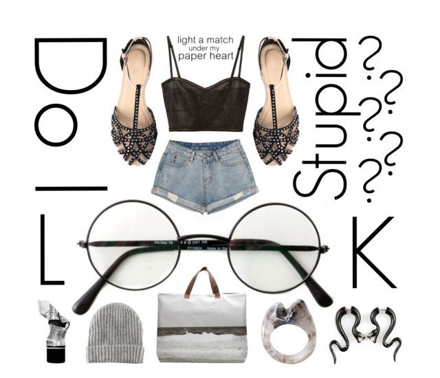 """""""Do I LOOK Stupid?"""" by burnishedgold ❤ liked on Polyvore featuring Dezso by Sara Beltrán, H&M, Derek Lam and Aesop"""