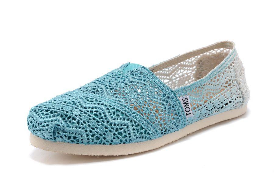 Toms Zig Zag Crochet Baltic Dip-Dyed Womens Classics Shoes