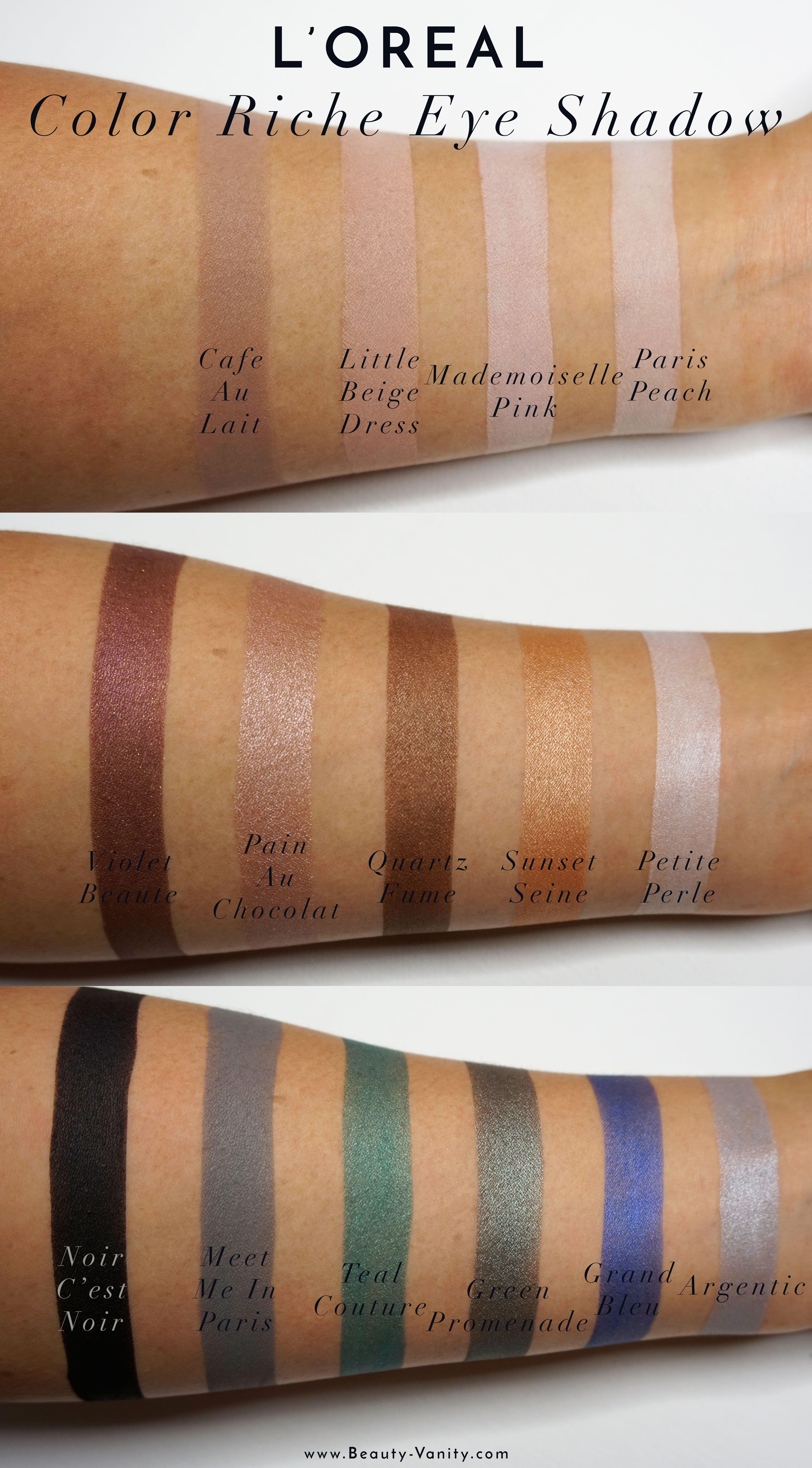Loreal Color Riche Mono Eye Shadow Review Swatches M A K E U P