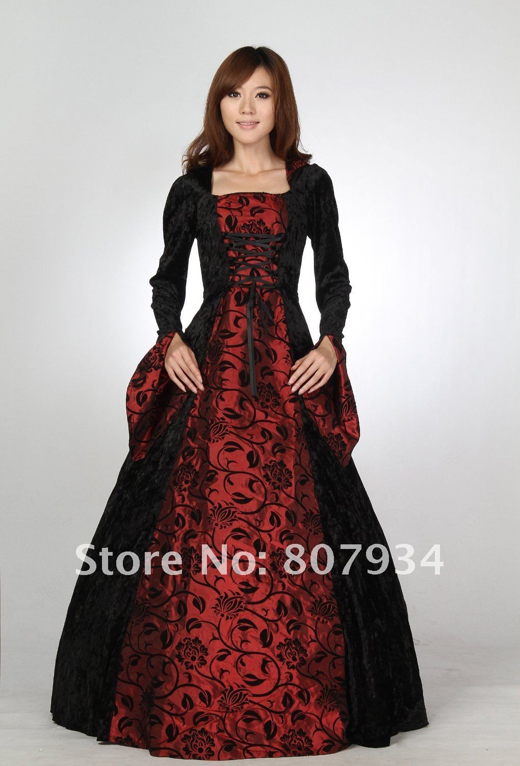 Gown Cotton Quality Dress Tropical Directly From China Gowns Suppliers Meval Renaissance Velvet Evening Hooded Ball Prom