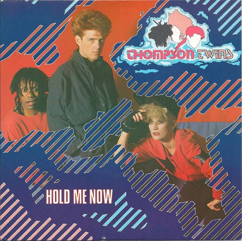 """Thompson Twins """"Hold Me Now"""" (1983). Vinyl single cover"""
