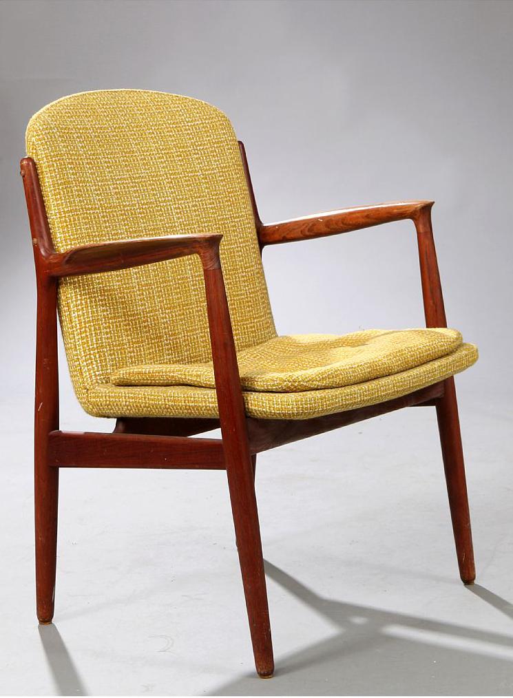 Harbo Solvsten 112 Teak Armchair For I C A Jensen 1950s