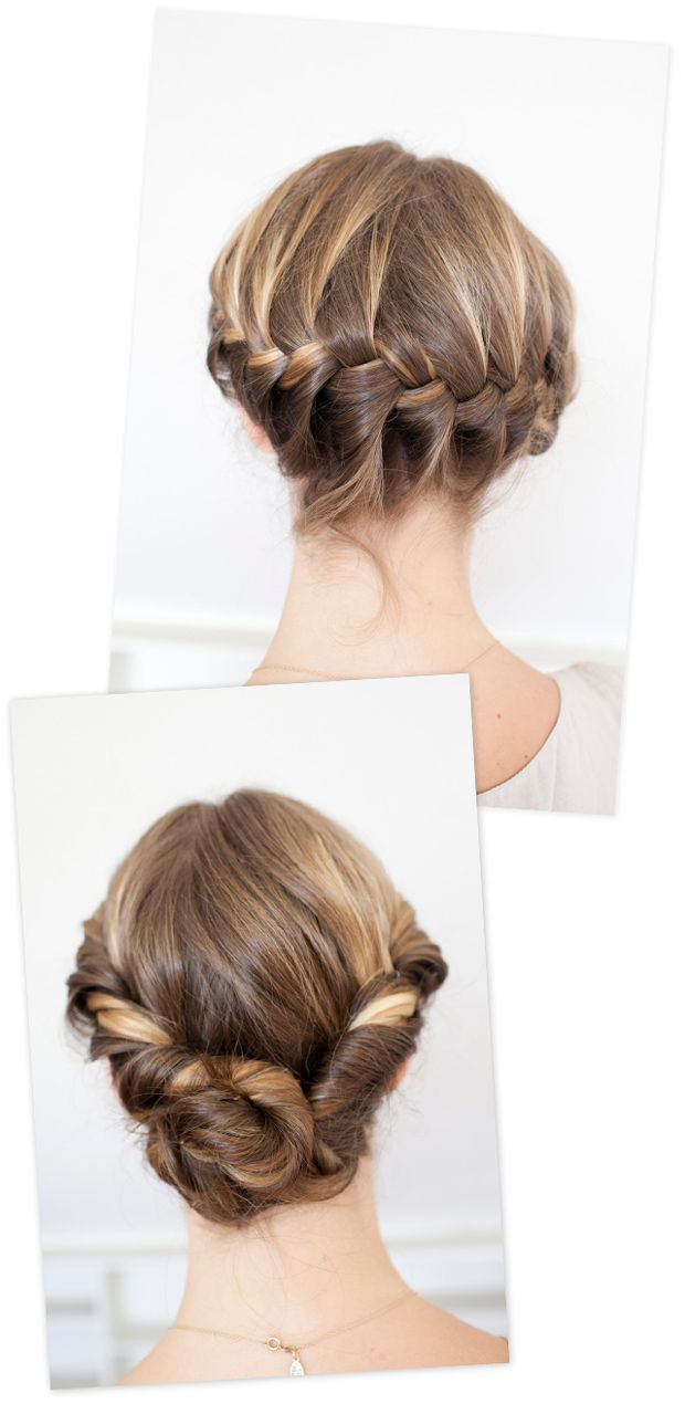 The bottom photo is nice wedding hair. Don\'t care for the top photo ...