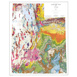 Geologic map of Utah by Lehi Hintze | Cards, Announcements & Print