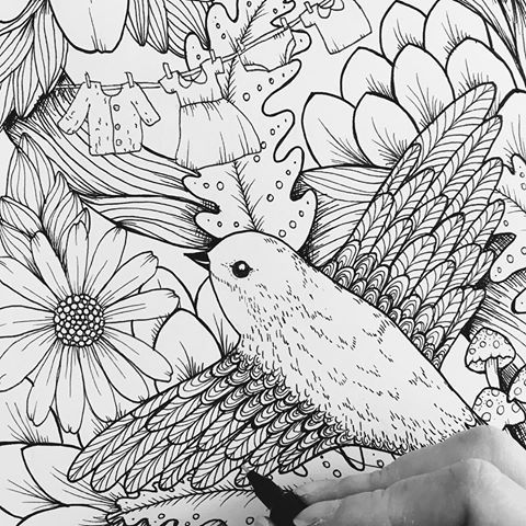 A Stunning Sneak Peek Of What Swedish Artist Maria Trolle Is Working On These Three Images Are From Her Forthcoming Coloring Book Has Not Finalized