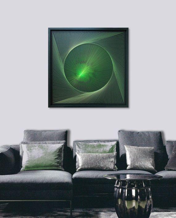 Wall Art Zen 3D Green Mandala