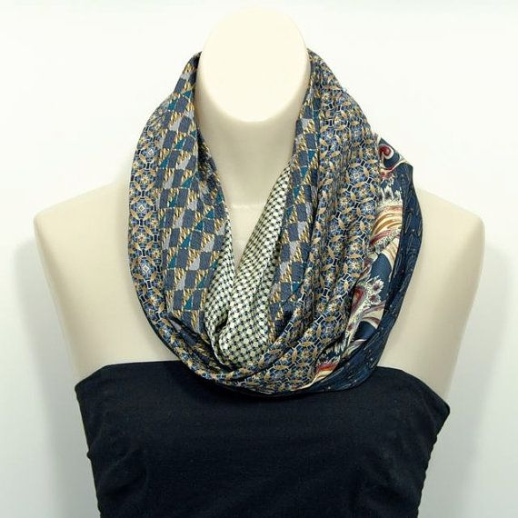 PDF Sewing Pattern for Recycled Repurposed Necktie Cowl (Bonus ...