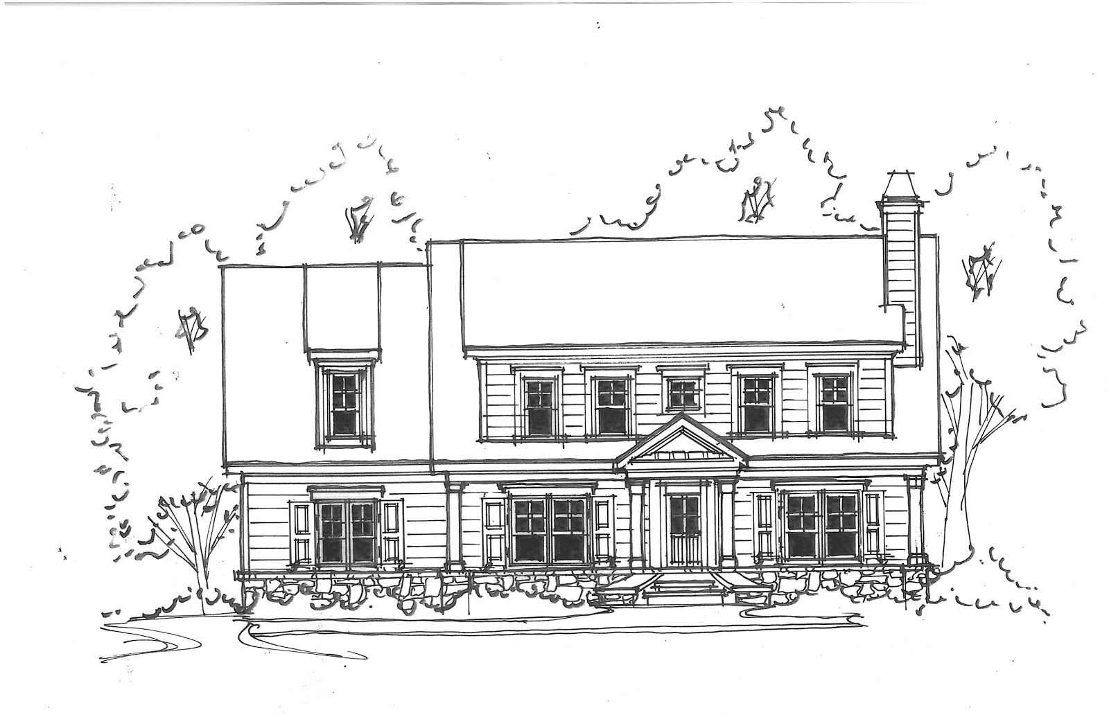 Front Elevation Of House Sketch Exterior Elevations Of Our New House House Sketch House Elevation Exterior