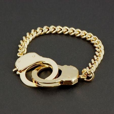 Caine S Handcuff Bracelet Gold Tone Jewellery