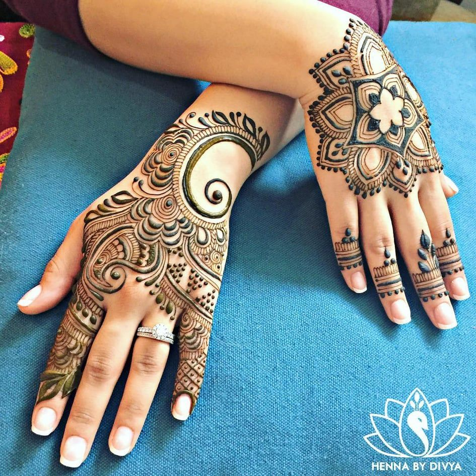 Easy and Simple Mehndi Designs That You Should Try In 2019 is part of Henna designs, Mehndi designs, Beautiful henna designs, Henna stencils, Henna tattoo, New mehndi designs - Applying henna or mehndi on hand during any festive occasion or wedding is our one most lovable Indian ritual  Many people love applying mehndi on their hand but some are an occasional lover  Mehndi is
