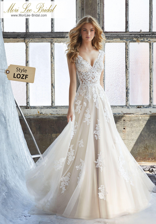 Style LOZF Kennedy Wedding Dress Slim A-Line Wedding Dress Featuring ...
