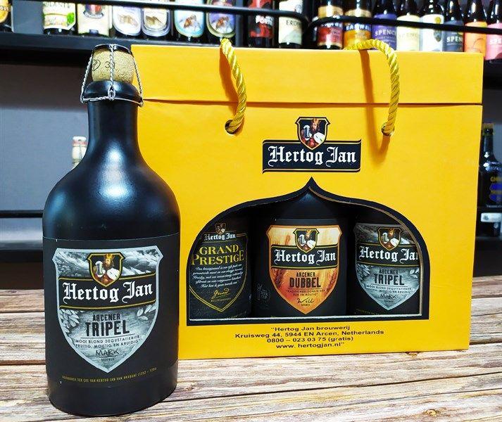 Xách bia sứ Hertog Jan
