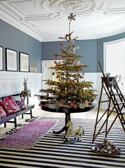 Simply Decorated Christmas Tree Pattonmelo Christmas Decor Inspiration Tabletop Christmas Tree Traditional Christmas Tree