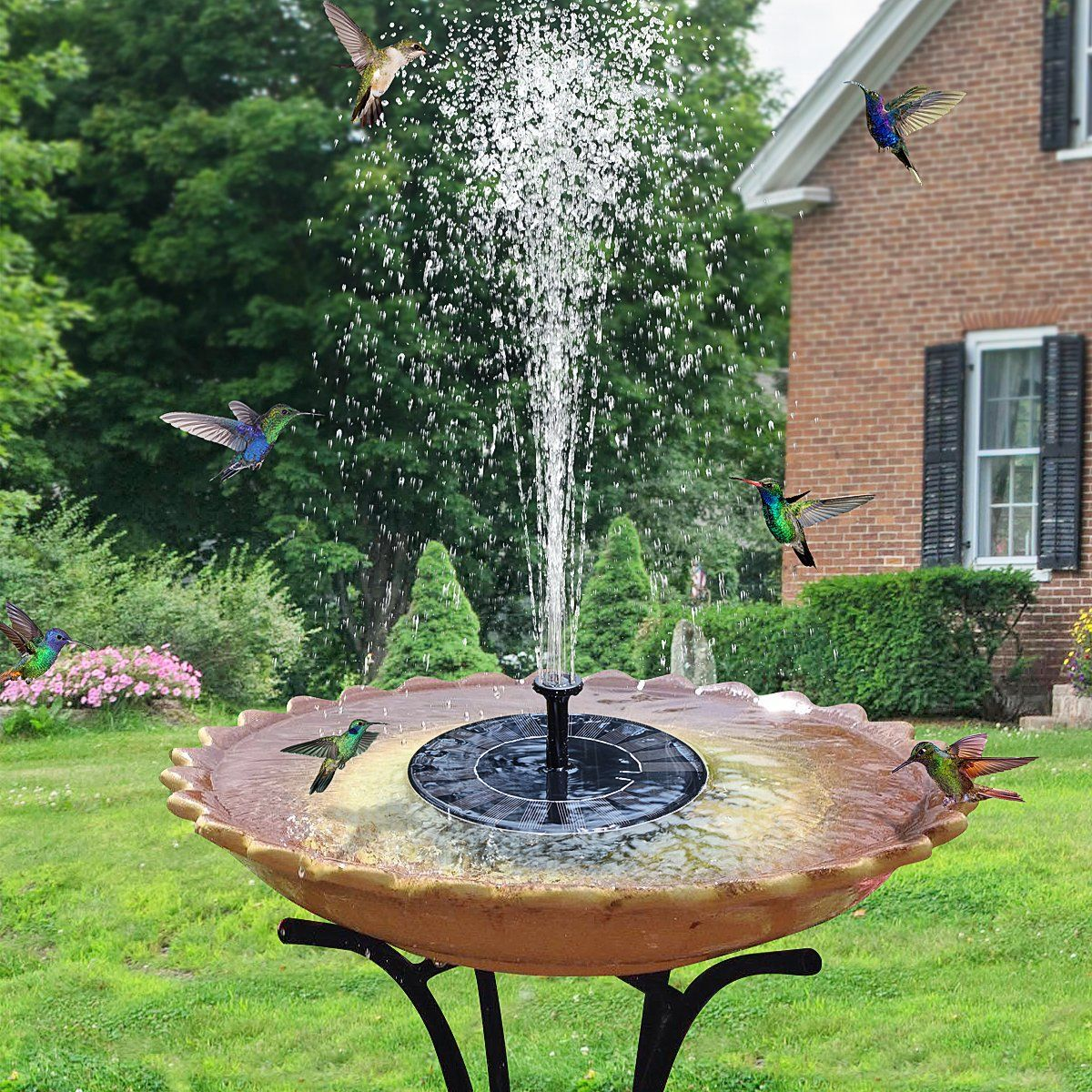 Solar Powered Fountain Water Pump Floating for Garden Bird Bath Kit Pond Pool US