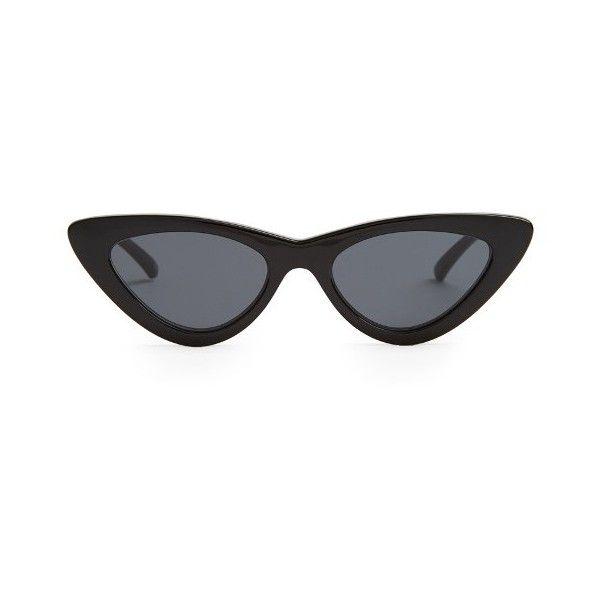 6d1763b203be Le Specs X Adam Selman The Last Lolita sunglasses ($90) ❤ liked on Polyvore  featuring accessories, eyewear, sunglasses, black, acetate glasses, le  specs, ...