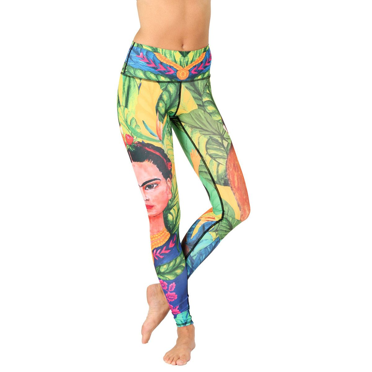 47d2292396 Eco-friendly Full-Length The Frida/Frida Kahlo Printed Yoga Leggings (Front  View)