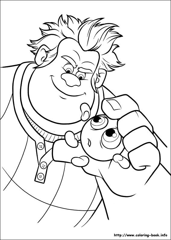 Wreck It Ralph Coloring Picture Disney Coloring Pages Coloring Pages Disney Princess Coloring Pages