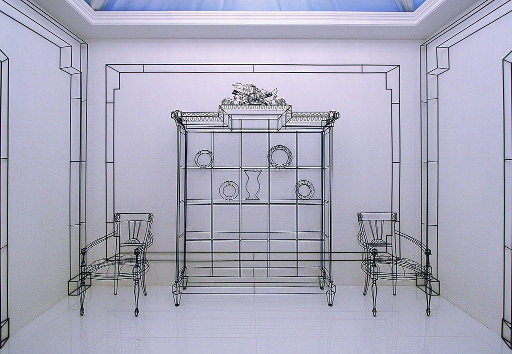 Colombo Mobili ~ Lavoro in wireframe per lo stand della colombo mobili salone del