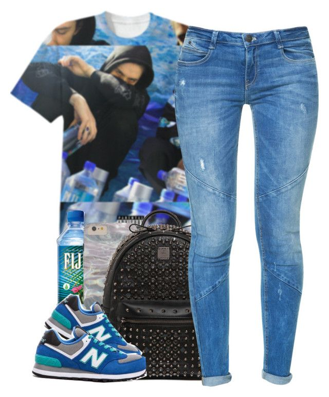 """""""-"""" by queenbrittani ❤ liked on Polyvore featuring MCM, Zara and New Balance"""