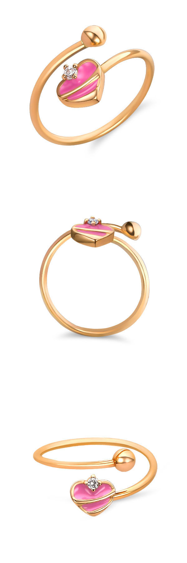 Rings 98477: Childrens 14K Gold Ring | Real Gold Baby Jewelry ...