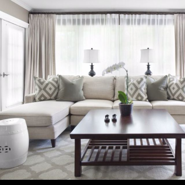 Captivating Love This Look For Curtains With Sheer Underneath For Living Room...  Privacy Without Window Shades