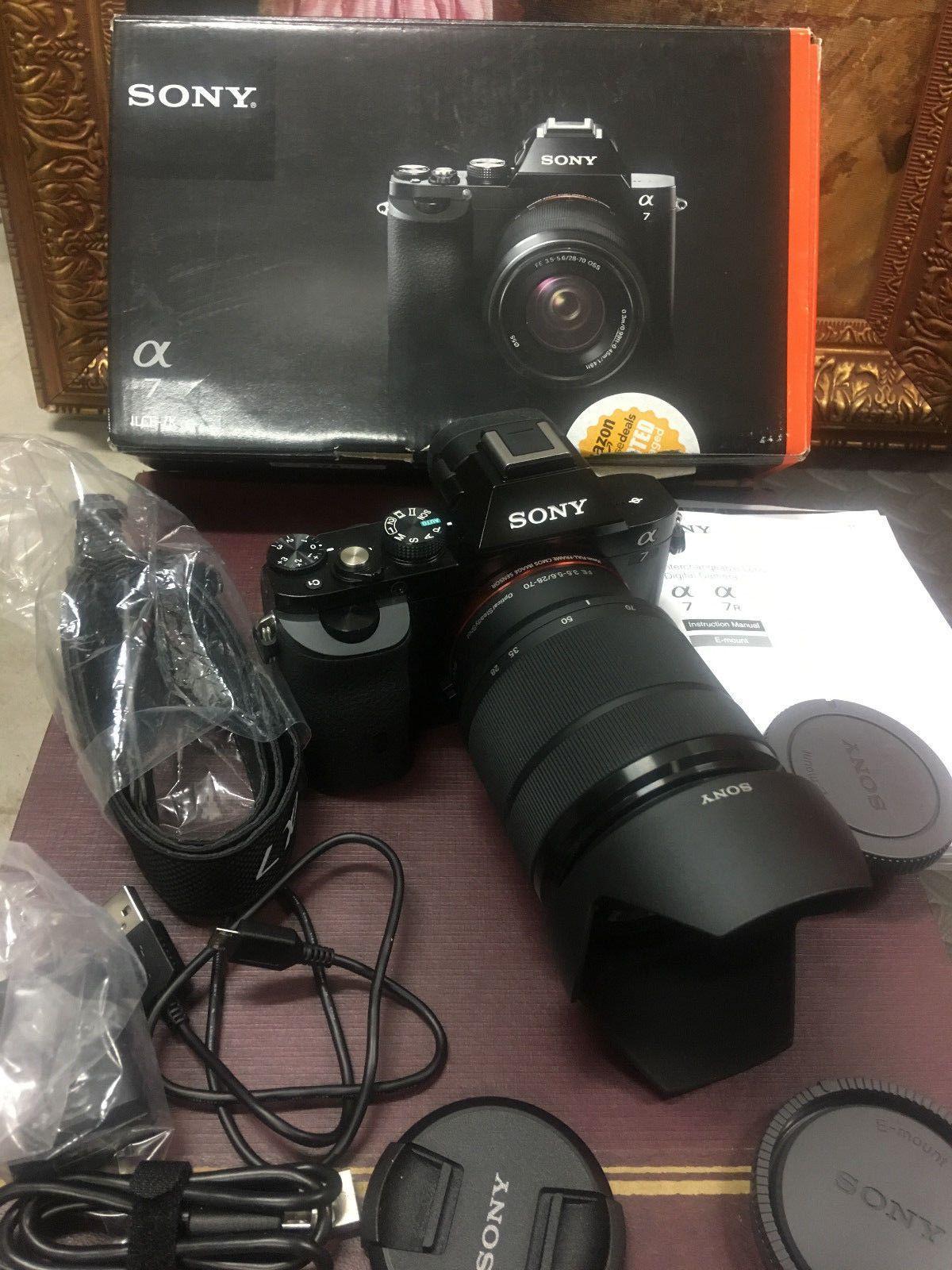 Sony A7 Ilce 7k 24 3mp Full Frame Camera Fe 28 70mm F3 5 5 6 Oss Zoom Lens Kit Full Frame Camera Digital Camera Zoom Lens