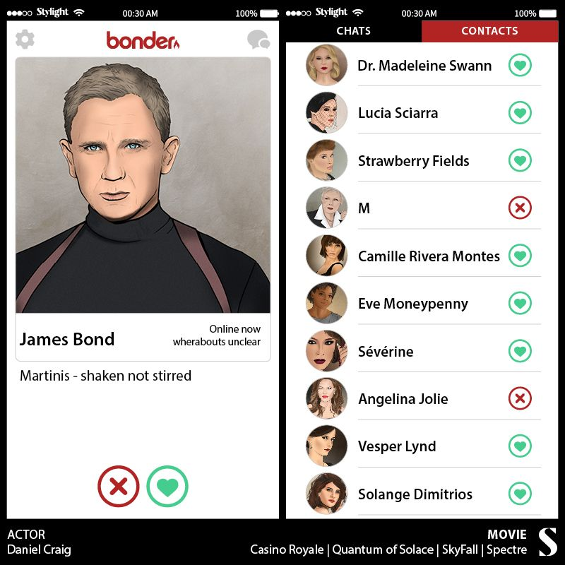 Imagine if James Bond had Tinder